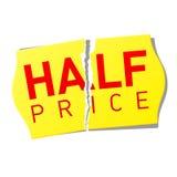Meia etiqueta do preço. Vetor. Imagens de Stock Royalty Free