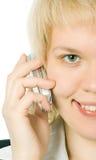 Meia face do Close-up Imagens de Stock Royalty Free