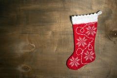 Meia feito a mão do Natal Imagens de Stock
