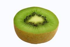 Meia fruta de quivi fotografia de stock
