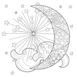 Meia lua do Natal com estrelas Imagens de Stock Royalty Free