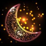 Meia lua ornamentado Imagem de Stock Royalty Free
