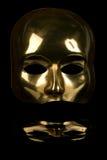 Meia máscara protectora dourada Foto de Stock Royalty Free