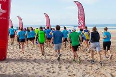Meia Maratona das Areias - Half Marathon of the Sands - start line. Royalty Free Stock Photos