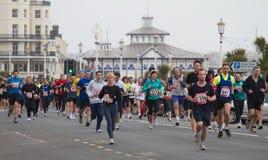 Meia maratona de Eastbourne fotos de stock royalty free