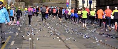 Meia maratona de Praga Imagem de Stock