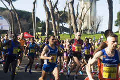 Meia maratona de Roma-Ostia Foto de Stock Royalty Free