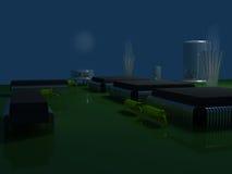 Meia-noite na cidade do elétron Foto de Stock