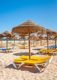 Meia Praia beach in Lagos, Algarve, Portugal. Stock Photo