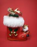 Meia vermelha do Natal Fotos de Stock Royalty Free