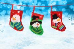 Meias do Natal Fotos de Stock