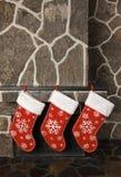 Meias do Natal Imagens de Stock