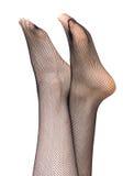 Meias nos pés da mulher Foto de Stock Royalty Free
