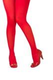 Meias vermelhas Imagens de Stock Royalty Free
