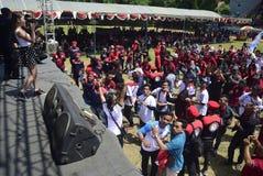 Meidag in de Stad van Semarang Stock Foto