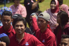 Meidag in de Stad van Semarang Royalty-vrije Stock Foto