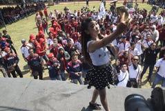 Meidag in de Stad van Semarang Royalty-vrije Stock Afbeeldingen