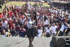 Meidag in de Stad van Semarang Stock Foto's
