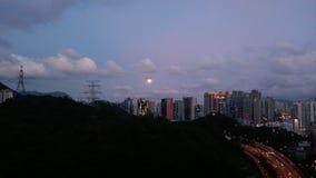 从Meifoo, HK的夜视图 免版税库存图片