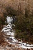 Meigs nedgångar på den lilla floden i Great Smoky Mountains Arkivbilder
