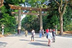 Meiji Jingu Shrine in Shibuya, Tokyo. The Meiiji Jingu Shrine is a Shinto shrine dedicated to deified spirits of the Emperor Meiji and his wife Empress Shoken royalty free stock images