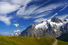 Meije peak in oisans, france Royalty Free Stock Images