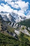 Meijegletsjer dichtbij La-Graf (Frankrijk) Stock Fotografie