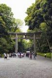 Meiji świątynia przy Yoyogi parkiem fotografia stock