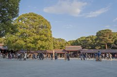 Meiji Jingu in Harajuku, Japan stockbilder
