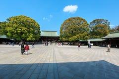 Meiji Jingu relikskrin Arkivfoton