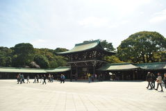 Meiji Jingu relikskrin Royaltyfria Bilder
