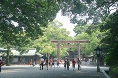Meiji Jingu shrine Stock Image