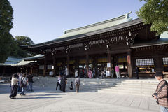 Meiji Jingu Shrine Images stock