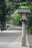 Meiji-jingu shrine, located in Shibuya, landmark and popular for tourist attractions. 6 April 2018, Tokyo, Japan. Meiji-jingu shrine, located in Shibuya royalty free stock photography