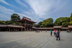 Meiji-jingu shrine, located in Shibuya, landmark and popular for tourist attractions. 6 April 2018, Tokyo, Japan stock photo