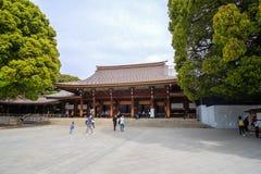 Meiji-jingu shrine, located in Shibuya, landmark and popular for tourist attractions. 6 April 2018, Tokyo, Japan stock images