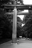 Meiji Jingu Shrine Park. Ancient wooden gate inside the Meiji Jingu Shrine Park, Tokyo, Japan Stock Photo