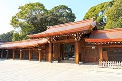 Meiji Jingu Shrine in Shibuya, Tokyo. The Meiiji Jingu Shrine is a Shinto shrine dedicated to deified spirits of the Emperor Meiji and his wife Empress Shoken stock images