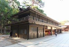 Meiji Jingu Shrine in Shibuya, Tokyo. The Meiiji Jingu Shrine is a Shinto shrine dedicated to deified spirits of the Emperor Meiji and his wife Empress Shoken royalty free stock photos