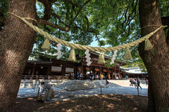 Meiji Jingu Shrine. The Meiji Jingu Shinto shrine in Tokyo, Japan Royalty Free Stock Photography