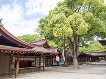Meiji Jingu Shrine, Tokyo, Japan. Meiji Shrine 明治神宮 Meiji Jingū, located in Shibuya, Tokyo, is the Shinto shrine that is dedicated to the royalty free stock images