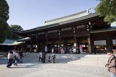 Meiji Jingu Shrine. TOKYO, JAPAN - APRIL 10 2014: Meiji Shrine(Meiji Jingu). Meiji Shrine is the Shinto shrine dedicated to the divine souls of Emperor Meiji and Stock Images