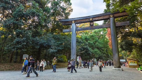 Meiji-jingu Shrine in Tokyo Japan Stock Photos