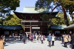 Meiji-Jingu in Tokyo, Japan Stock Afbeeldingen