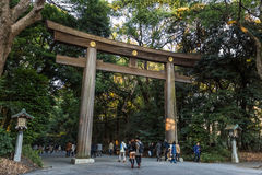 Meiji-Jinguheiligdom in Tokyo Japan Stock Afbeeldingen