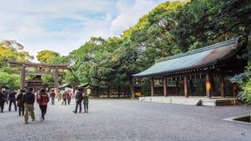 Meiji-Jinguheiligdom in Tokyo Japan Stock Fotografie