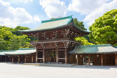 Meiji Shrine imperial em Shibuya, Tóquio, Japão fotografia de stock royalty free
