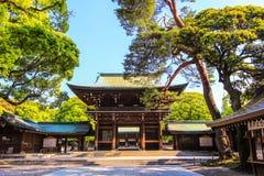 Meiji Shrine,Shibuya,Tokyo,Japan. Meiji Shrine is Located just beside the JR Yamanote Line's busy Harajuku Station Royalty Free Stock Images