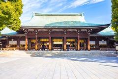 Meiji Shrine in Tokyo, Japan. Tokyo, Japan - February 16, 2015: Meiji Shrine located in Shibuya, Tokyo, is the Shinto shrine that is dedicated to the deified Stock Photography