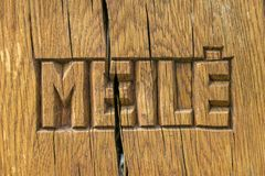 Meile, αγάπη στη λιθουανική γλώσσα Στοκ Εικόνα